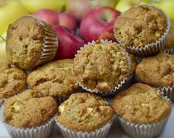 Vegan Apple Muffins (Gluten-Free)