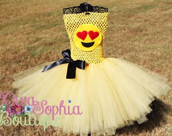 Emoji Tutu Dress/ Emoji Costume