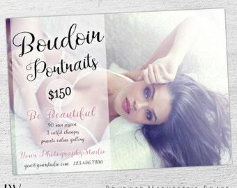 Boudoir Mini Session, Valentine's Day, Boudoir Photography, Boudoir Template, Photoshop, Boudoir Marketing, Marketing Board - 05-003