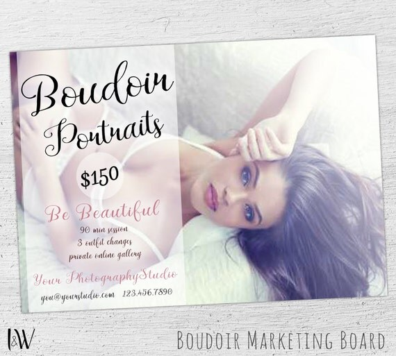 Boudoir Mini Session, Valentine's Day, Boudoir Photography, Boudoir Template, Photoshop, Boudoir Marketing, Marketing Board - 05-003