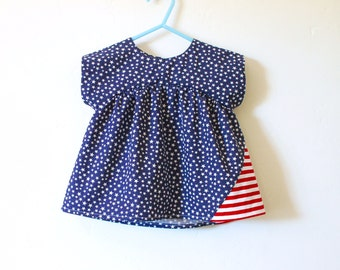 Stars and Stripes girls tunic