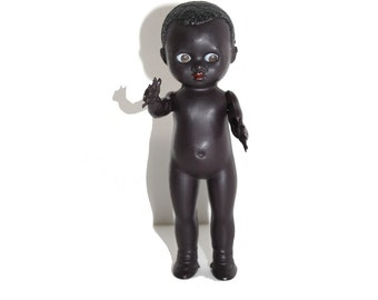 1950s Pedigree Black Boy Doll With Sleeping Eyes. Pedigree Doll. Vintage Doll.  African Doll. Boy Doll. Black Doll. Made In England Pedigree