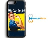 Rosie the Riveter Phone Case - iPhone 4,4s,5,5s,5c,6,6plus; Galaxy S3,S4,S5,S6, iPod 4,5 WW2 We Can Do It Poster World War 2 Feminist