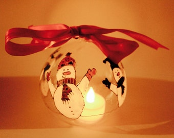 Hand Painted Hanging Bauble Decoration