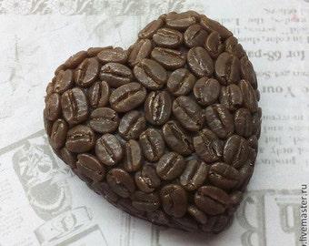 Silicone soap mold Coffee heart