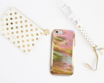 Platinum Edition Nautilus Shell with Rose Gold Detailing Hybrid Hard Case Otterbox Symmetry iPhone 6 / iPhone 7 / Galaxy S7 / S7 Edge
