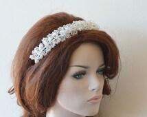 Marriage  Bridal Hair Crown, Wedding Crystal Beads Tiara, Wedding Headband, Wedding Crown,  Bridal Hair Accessory, Wedding hair Accessory