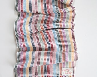 Scarf; Bright Colorful Striped Handwoven Bamboo Scarf