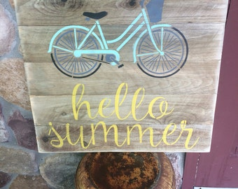 Rustic summertime porch sign
