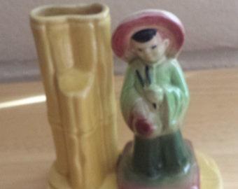 Shawnee Oriental Figural l Vase