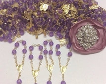 10%off weekend sale 25 pcs Mini Rosaries, First communion favors Recuerditos Bautizo / Mini Rosary Baptism Favors 25 pcs