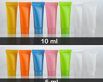 Colorful Empty Cream Tubes Containers Travel  5ml 10ml