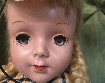 "Maker unknown 17"" hard plastic doll"