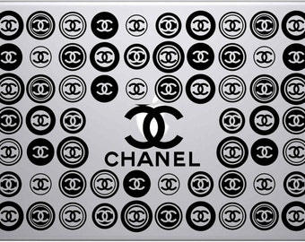 Classy Chanel Inspired Fashion Vinyl Apple Macbook or PC Laptop Decal