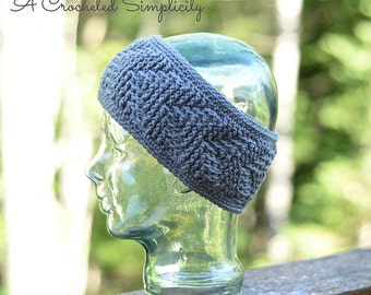 Crochet Pattern: Right This Way! Reversible Headwarmer