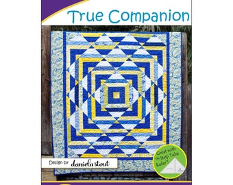 "Pattern ""True Companion"" Quilt Pattern by Cozy Quilt Designs (CQD01145) Paper Pattern"