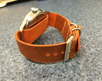 Simple Handmade Watch Strap. Classic design similar to what Nato and Zulu Soldiers wear.