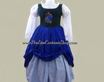 Plus Size Embroidered Bodice Renaissance Package Dress Gown - Blue Dragon Design - 5 pieces - NEW - 0X 1X 2X 3X 4X 5X