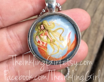 Sirena Mermaid Pendant Necklace
