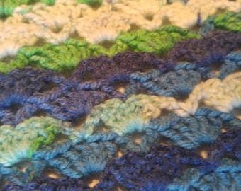 Ocean shells baby blanket