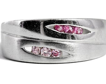 Morganite Ring Ruby Silver