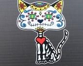 Day of the Dead Sugar Skull Cat #109