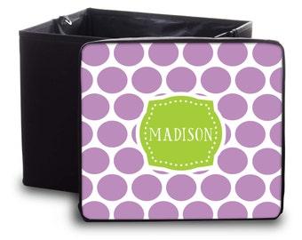 Personalized Storage  Bin - Custom Toy Box- Monogram Storage Container