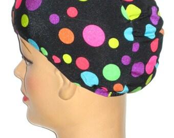 Polka Dot Lycra Swim Cap