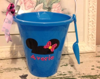 Personalized Minnie Mouse sand pail