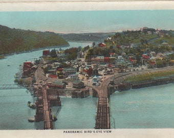 """1915 Harper's Ferry-Panoramic Birds Eye View-8x10"""" Enlargement of Post Card"""