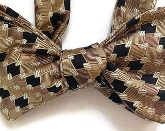 Silk Bow Tie for Men - Chicago - One-of-a-Kind - Handcrafted, Self-tie - Free Shipping