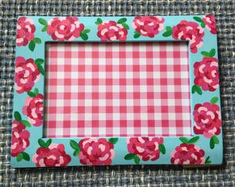 Lilly Pulitzer inspired flower frame