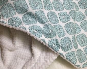 Minky Boy Blanket - Blue - Minky Blanket - Diamond