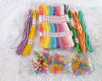 16 Skeins of Variegated Tie-Dye Craft Thread Embroidery Floss for friendship bracelets Friendship Bracelet String