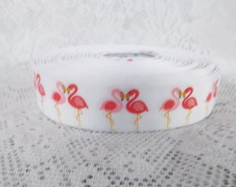 Flamingo ribbon 1 inch Pink flamingo ribbon