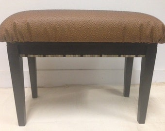 Brown Faux Leather Bench