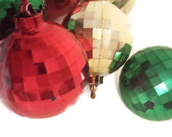 Christmas Ornaments Faceted Plastic Disco Ball Mirror Ball