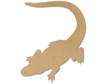 Alligator Animal Style 6164, Wooden Cutouts, Crafts Embellishment, Gift Tag or Wood Ornament
