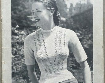 Vintage 1950's Patons Knitting Book No. 323
