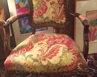 Victorian Louis XV Style Fauteuil Chair