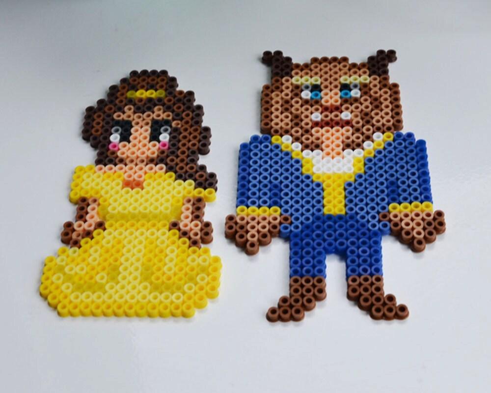 Disney perler beads beauty and the beast - Hama beads cuadros ...