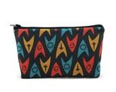 Star Trek Zipper Pouch, Makeup Bag, Toiletry Bag,  Cosmetic Bag, Tampon Case, Zipper Wallet, Gadget Bag, Zipper Pouch,  Pencil Case