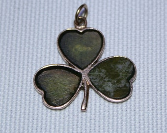9ct Irish Clover Pendant/Charm