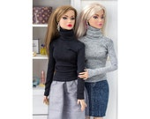 Barbie clothes - Turtleneck sweater - Poppy Parker clothes