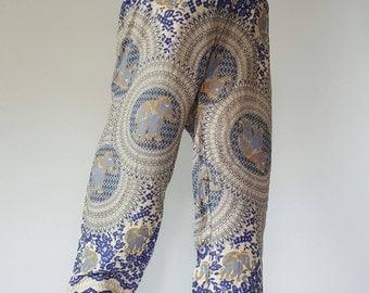 SM0099 Thai Genie Pants Comfy Trouser, Gypsy Pants Rayon Pants,Aladdin Pants Maxi Pants Boho Pants