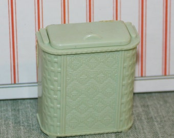 Mint Green Renwal Hamper,three Quarter Scale Plastic Dollhouse Furniture ,  Fits With Ideal And