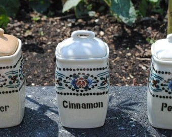 Ginger Cinnamon and Pepper Jars