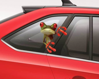 Cute Frog Sticker for Car, Door, Window, Gate(DZ018)