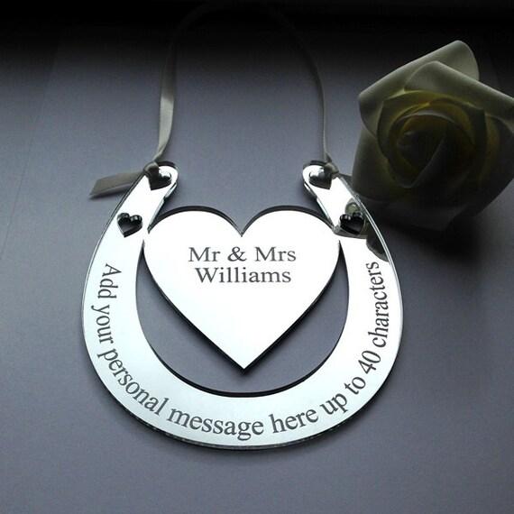 Personalised Wedding Horseshoe Gift : Personalised Wedding Horseshoe Lucky Bridal Keepsake Gift Horseshoes ...