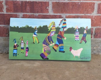 MEDIUM Courir de Mardi Gras painting / Louisiana painting / Cajun art